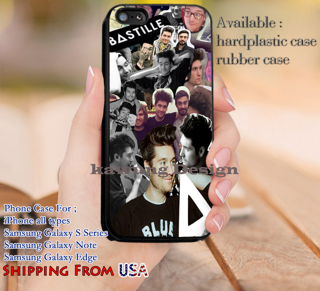 Band Collage Bastille iPhone 6s 6 6s+ 5c 5s Cases Samsung Galaxy s5 s6 Edge+ NOTE 5 4 3 #music #bst dl12 - Kawung Design  - 1