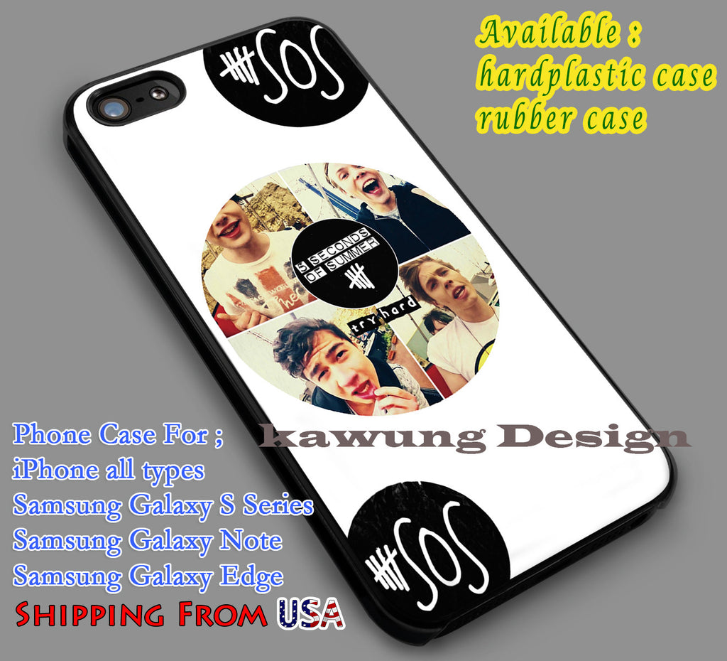 Band Logo 5sos iPhone 6s 6 6s+ 5c 5s Cases Samsung Galaxy s5 s6 Edge+ NOTE 5 4 3 #music #5sos dl6 - Kawung Design  - 1