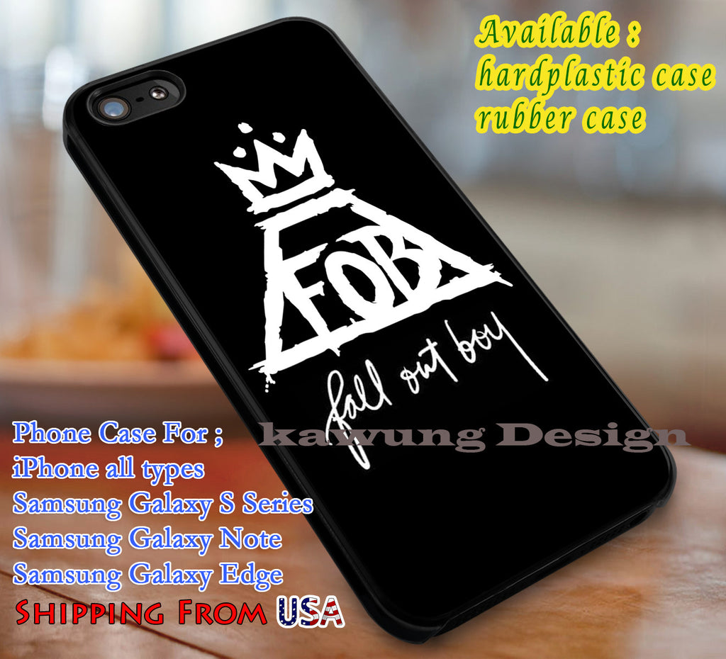 Band Logo Fall Out Boy FOB iPhone X 8+ 7 6s Cases Samsung Galaxy S8 S7 edge NOTE 8 5 4