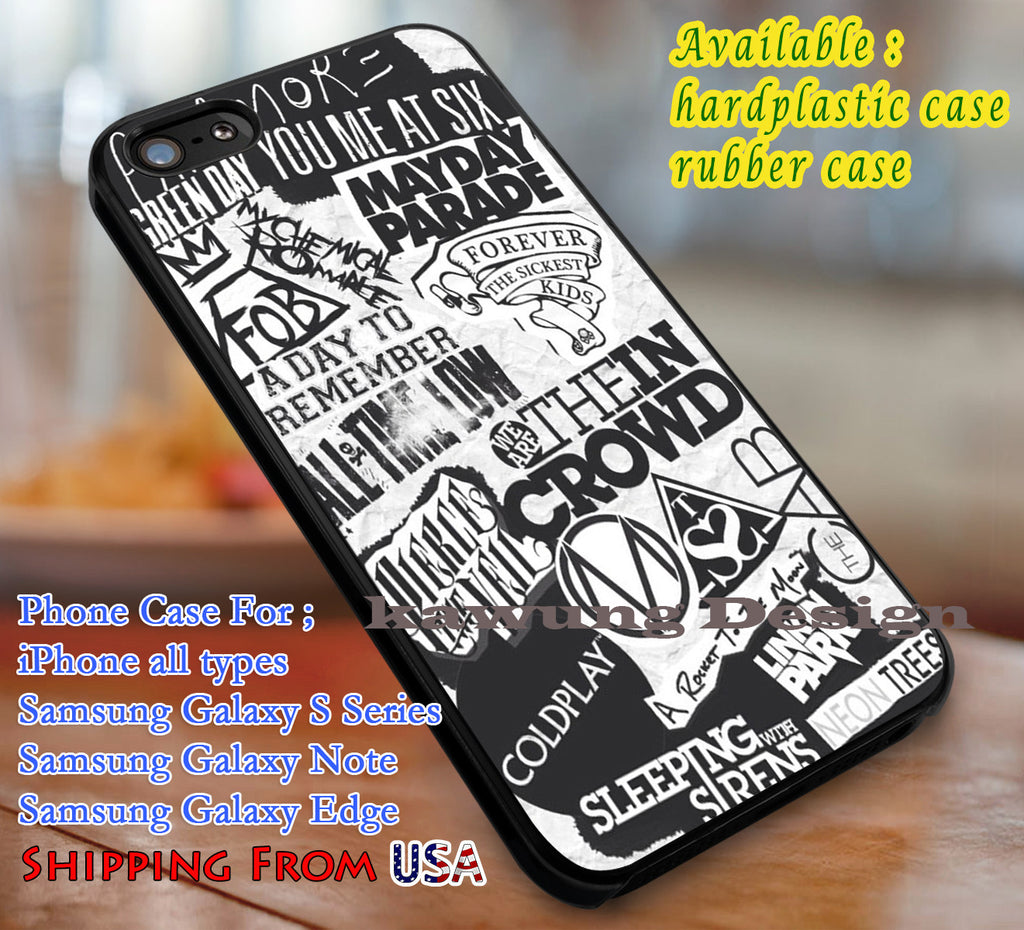 Band Logo Paramore iPhone X 8+ 7 6s Cases Samsung Galaxy S8 S7 edge NOTE 8 5 4