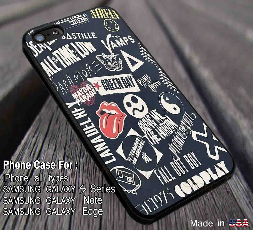 Bands Collage iPhone 8+ 7 6s Cases Samsung Galaxy S8 S7 edge NOTE 8 5 4