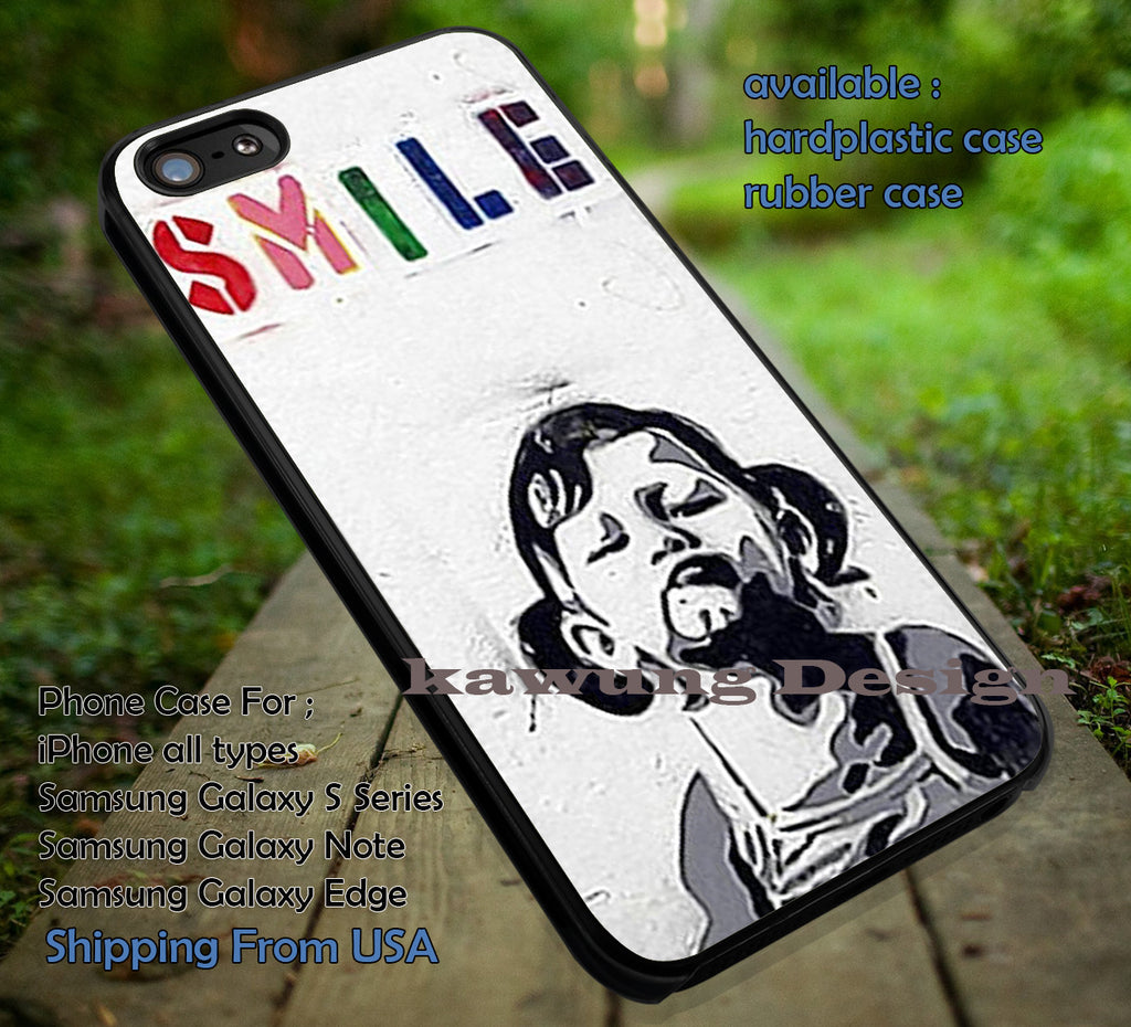 Banksy Smile Girl iPhone 6s 6 6s+ 6plus Cases Samsung Galaxy s5 s6 Edge+ NOTE 5 4 3 #art ii - Kawung Design  - 1