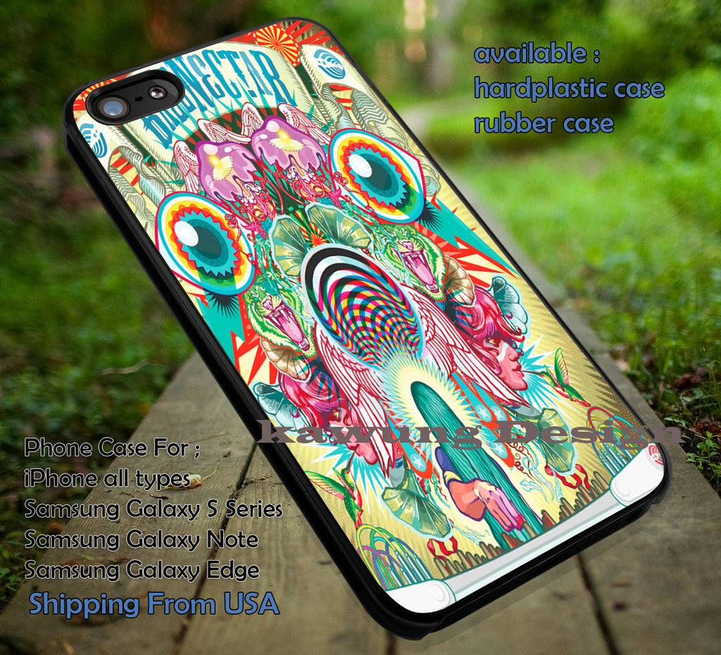 Bassnectar Tour, DJ, case/cover for iPhone 4/4s/5/5c/6/6+/6s/6s+ Samsung Galaxy S4/S5/S6/Edge/Edge+ NOTE 3/4/5 #music #bnt ii - Kawung Design  - 1