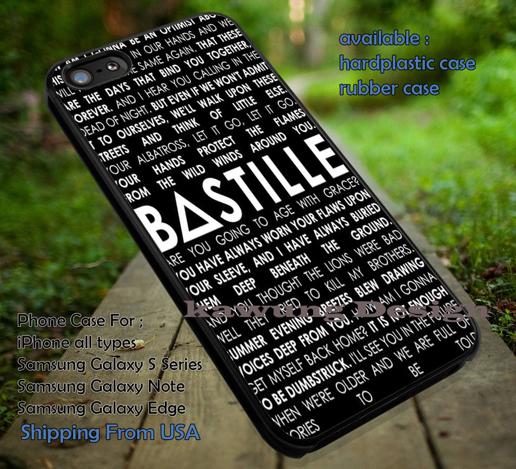 Bastille Lyrics Quotes, music, lyric, collage, art band, singer,bastille, case/cover for iPhone 4/4s/5/5c/6/6+/6s/6s+ Samsung Galaxy S4/S5/S6/Edge/Edge+ NOTE 3/4/5 #music #bst ii