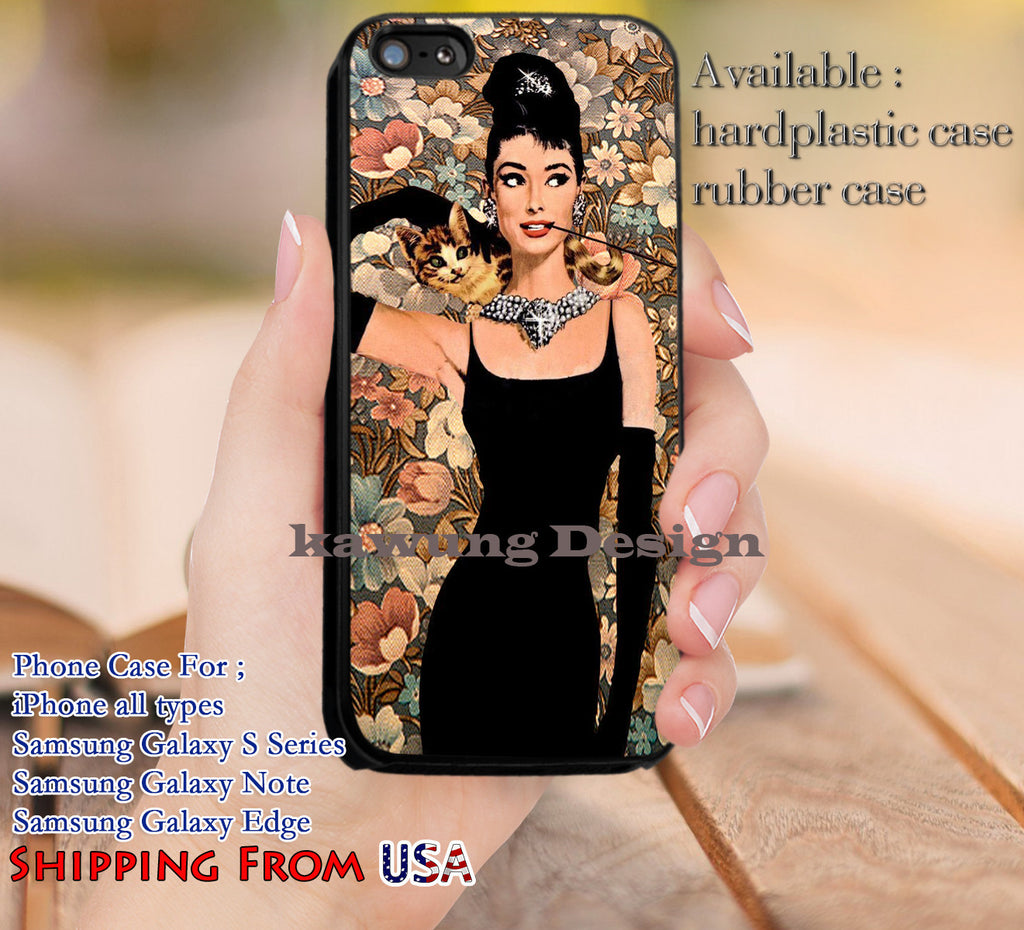 Beautiful Audrey Hepburn Vintage iPhone 6s 6 6s+ 5c 5s Cases Samsung Galaxy s5 s6 Edge+ NOTE 5 4 3 #movie #actrees #adh dl14 - Kawung Design  - 1