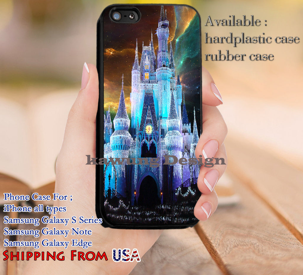 Beautiful Castle Cinderella Nebula iPhone 6s 6 6s+ 5c 5s Cases Samsung Galaxy s5 s6 Edge+ NOTE 5 4 3 #cartoon #animated #disney #Cinderella dl11 - Kawung Design  - 1