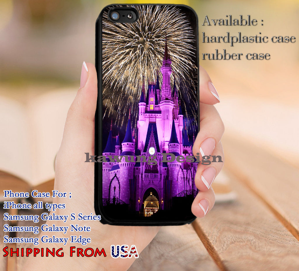 Beautiful Fireworks Disney iPhone 6s 6 6s+ 5c 5s Cases Samsung Galaxy s5 s6 Edge+ NOTE 5 4 3 #cartoon #disney #animated #disneycastle dl12 - Kawung Design  - 1