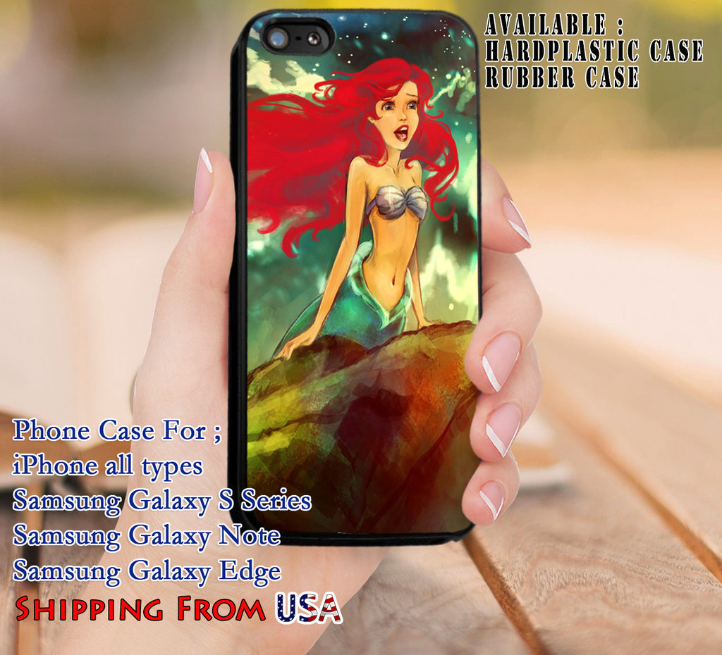 Beautiful Ariel The Little Mermaid iPhone 8+ 7 6s Cases Samsung Galaxy S8 S7 edge NOTE 8 5 4