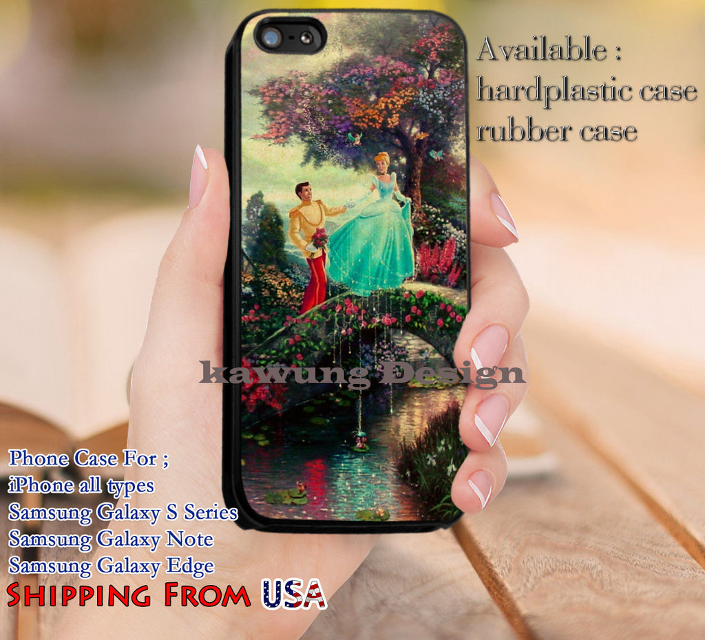 Beautiful Painting Cinderella iPhone 6s 6 6s+ 5c 5s Cases Samsung Galaxy s5 s6 Edge+ NOTE 5 4 3 #cartoon #animated #disney #Cinderella dl12 - Kawung Design  - 1