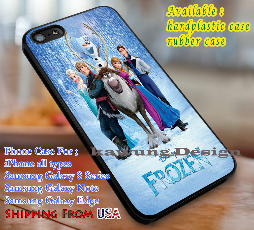 Beautiful Poster Frozen iPhone 6s 6 6s+ 6plus Cases Samsung Galaxy s5 s6 Edge+ NOTE 5 4 3 #cartoon #disney #animated  #frozen dl3 - Kawung Design  - 1