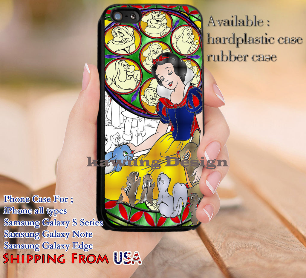 Beautiful Princess Snow White Stainned Glass iPhone 6s 6 6s+ 5c 5s Cases Samsung Galaxy s5 s6 Edge+ NOTE 5 4 3 #cartoon #disney #animated #SnowWhite dl10 - Kawung Design  - 1