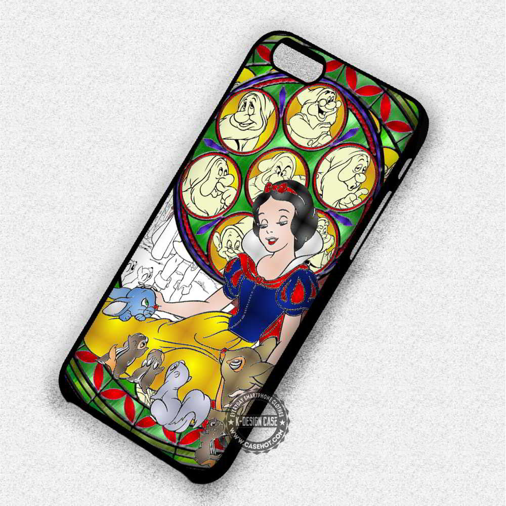 Beautiful Princess Snow White Stainned Glass - iPhone 7 6 Plus 5c 5s SE Cases & Covers - Kawung Design  - 1