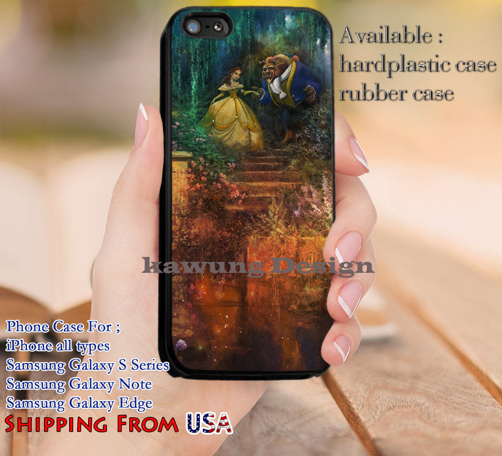 Beautiful Princess Beauty and The Beast iPhone 6s 6 6s+ 5c 5s Cases Samsung Galaxy s5 s6 Edge+ NOTE 5 4 3 #cartoon #disney #animated #BeautyAndTheBeast dl13 - Kawung Design  - 1