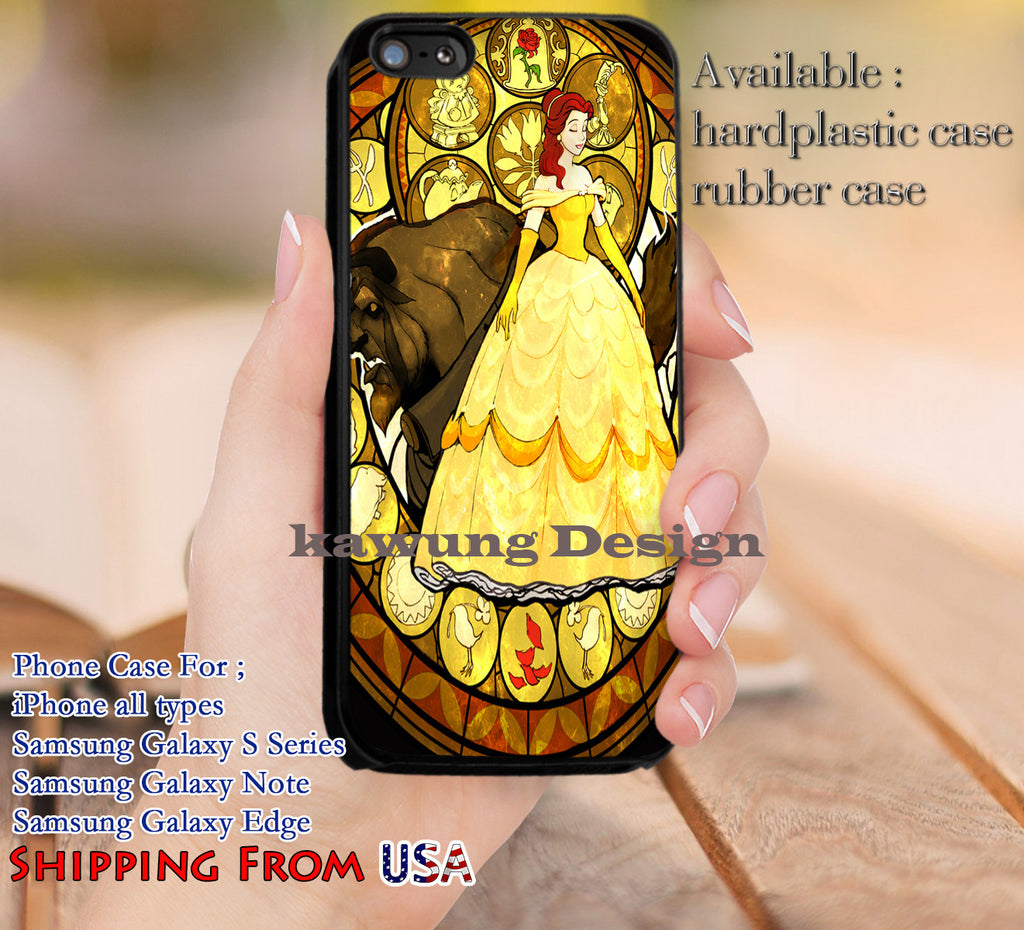 Beautiful Stained Glass Belle iPhone 6s 6 6s+ 5c 5s Cases Samsung Galaxy s5 s6 Edge+ NOTE 5 4 3 #cartoon #disney #animated #BeautyAndTheBeast dl12