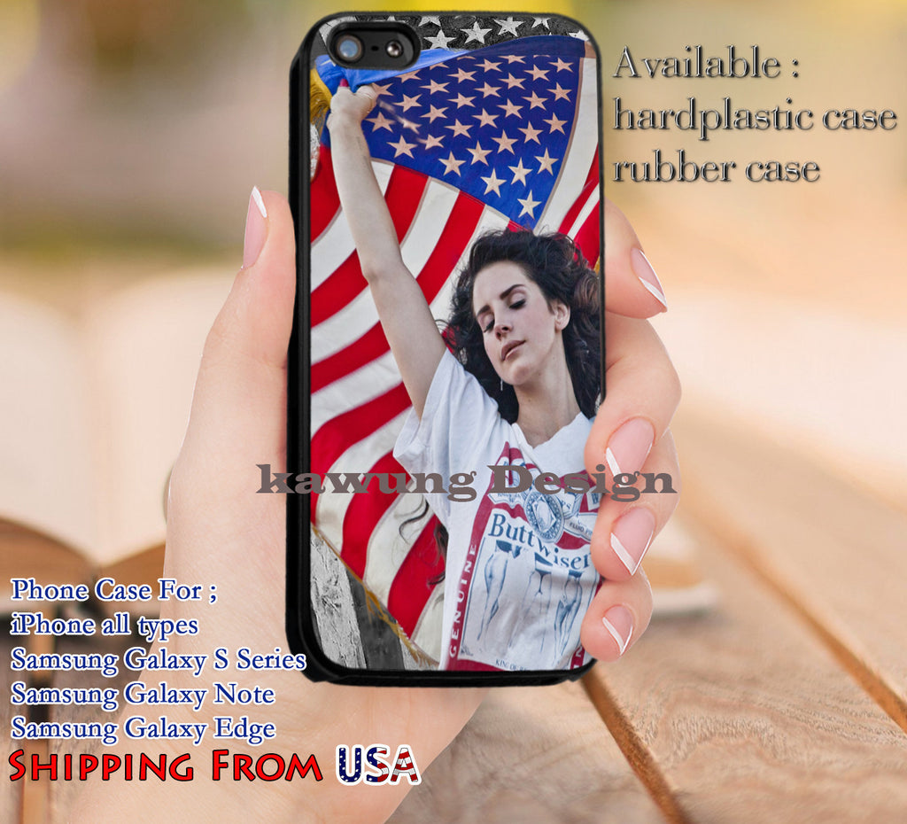 Beauty Lana Del Rey American Flag iPhone 6s 6 6s+ 5c 5s Cases Samsung Galaxy s5 s6 Edge+ NOTE 5 4 3 #music #lana dl11 - Kawung Design  - 1
