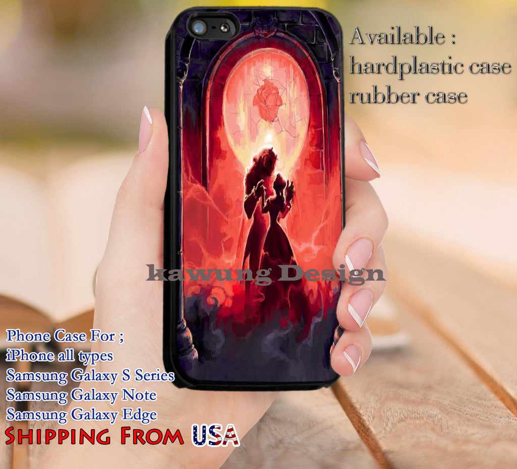 Beauty and Her Soulmate iPhone 6s 6 6s+ 5c 5s Cases Samsung Galaxy s5 s6 Edge+ NOTE 5 4 3 #cartoon #disney #animated #BeautyAndTheBeast dl12 - Kawung Design  - 1