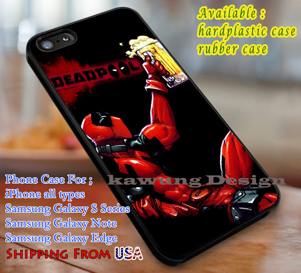 Beer Deadpool iPhone 6s 6s+ 5s 5c Cases Samsung Galaxy s5 s6 Edge+ NOTE 5 4 3 #movie #disney #animated #marvel #comic #superheroes dl3 - Kawung Design  - 1