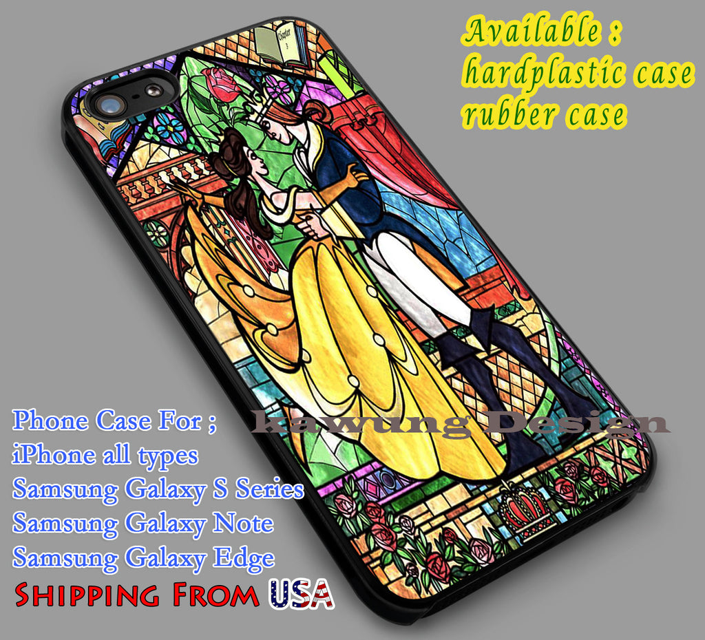 Belle Stained Glass | Beauty and The Beast | Disney iPhone 6s 6 6s+ 6plus Cases Samsung Galaxy s5 s6 Edge+ NOTE 5 4 3 #cartoon #disney #animated #BeautyAndTheBeast dl2 - Kawung Design  - 1