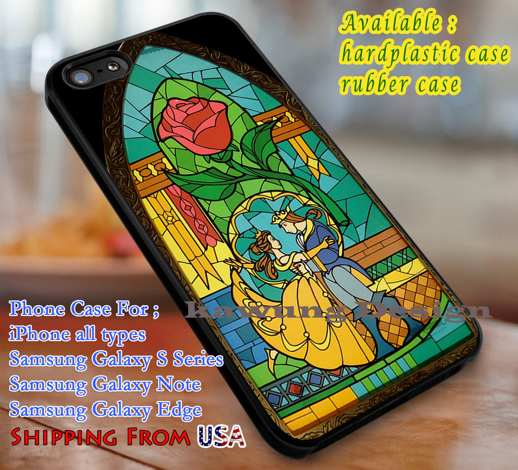 Belle Stainned Glass , Belle, Beauty, and The Beast, Stainned Glass, case/cover for iPhone 4/4s/5/5c/6/6+/6s/6s+ Samsung Galaxy S4/S5/S6/Edge/Edge+ NOTE 3/4/5 #cartoon #disney #animated #beautyandthebeast dl1 - Kawung Design  - 1