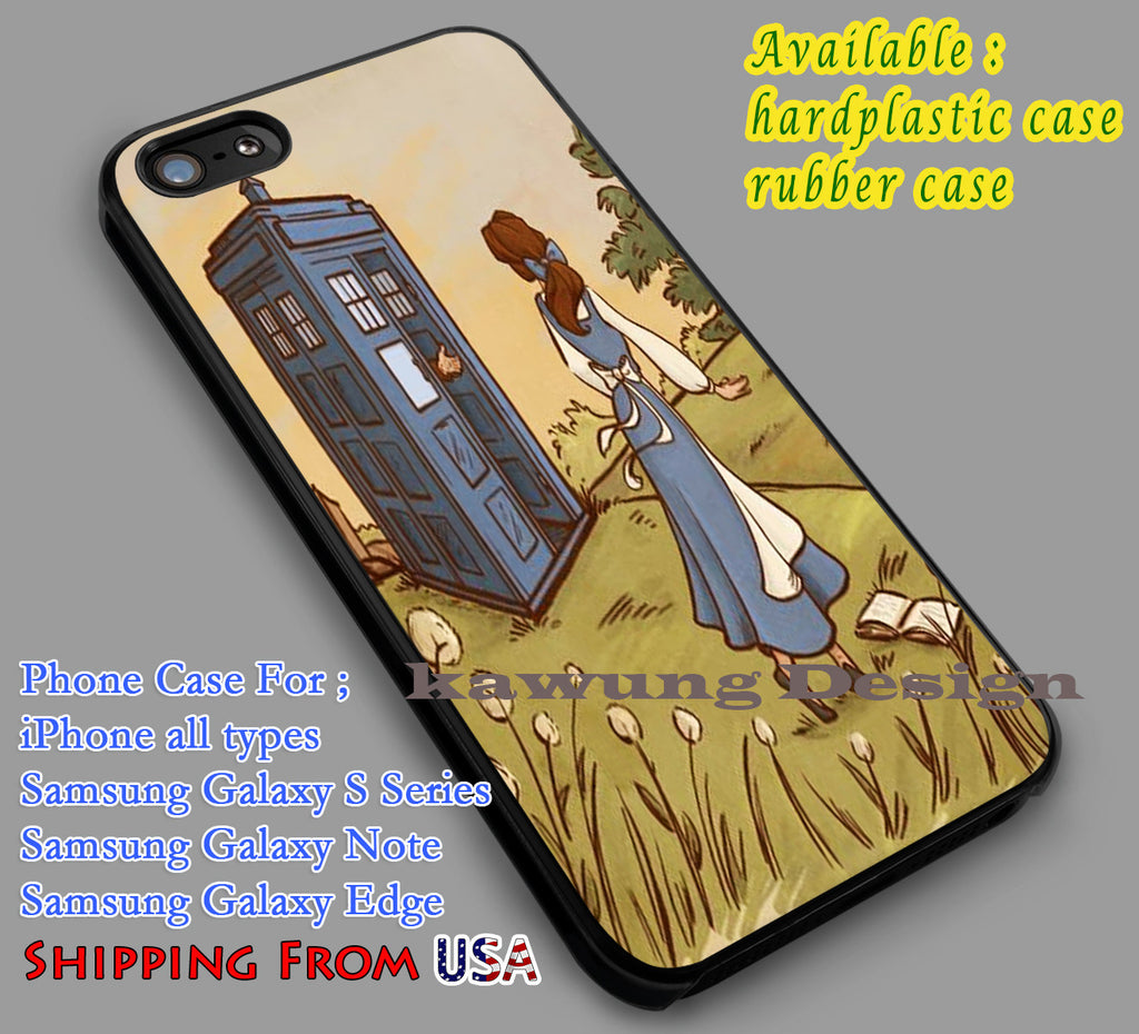 Belle and Tardis | Dr.Who | Beauty and The Beast iPhone 6s 6 6s+ 6plus Cases Samsung Galaxy s5 s6 Edge+ NOTE 5 4 3 #cartoon #disney #animated #BeautyAndTheBeast #DoctorWho dl2 - Kawung Design  - 1