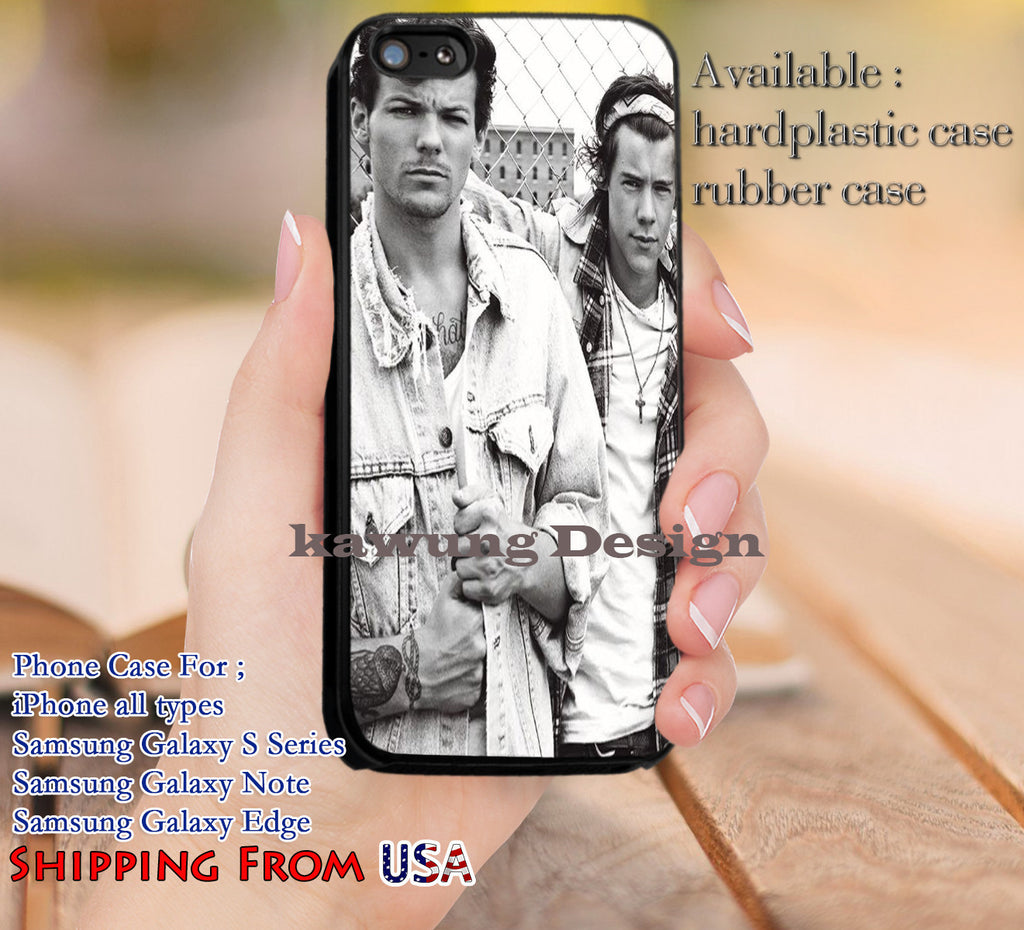 Best Louis Tomlinson Harry Styles One Direction iPhone 6s 6 6s+ 5c 5s Cases Samsung Galaxy s5 s6 Edge+ NOTE 5 4 3 #music #1d dl13 - Kawung Design  - 1