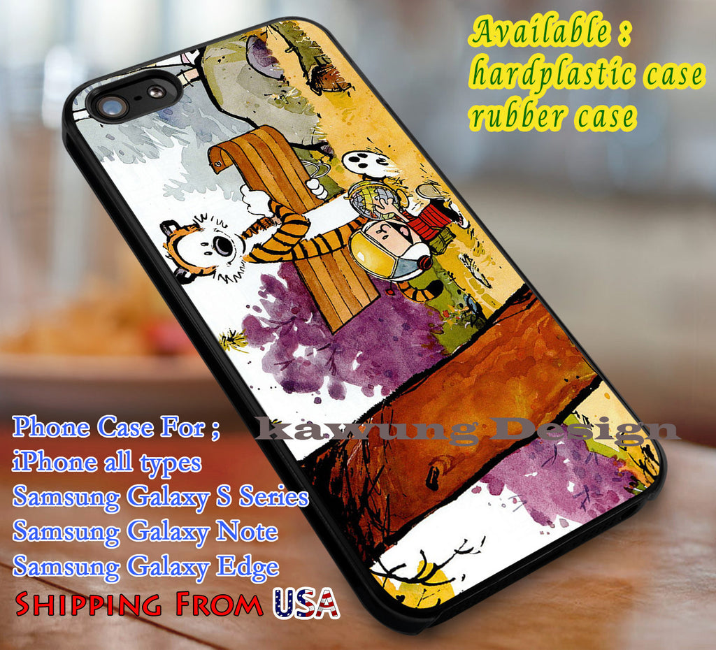 Best Friend Calvin and Hobbes Cartoon iPhone 6s 6 6s+ 6plus Cases Samsung Galaxy s5 s6 Edge+ NOTE 5 4 3 #cartoon #anime #calvinandhobbes dl3 - Kawung Design  - 4