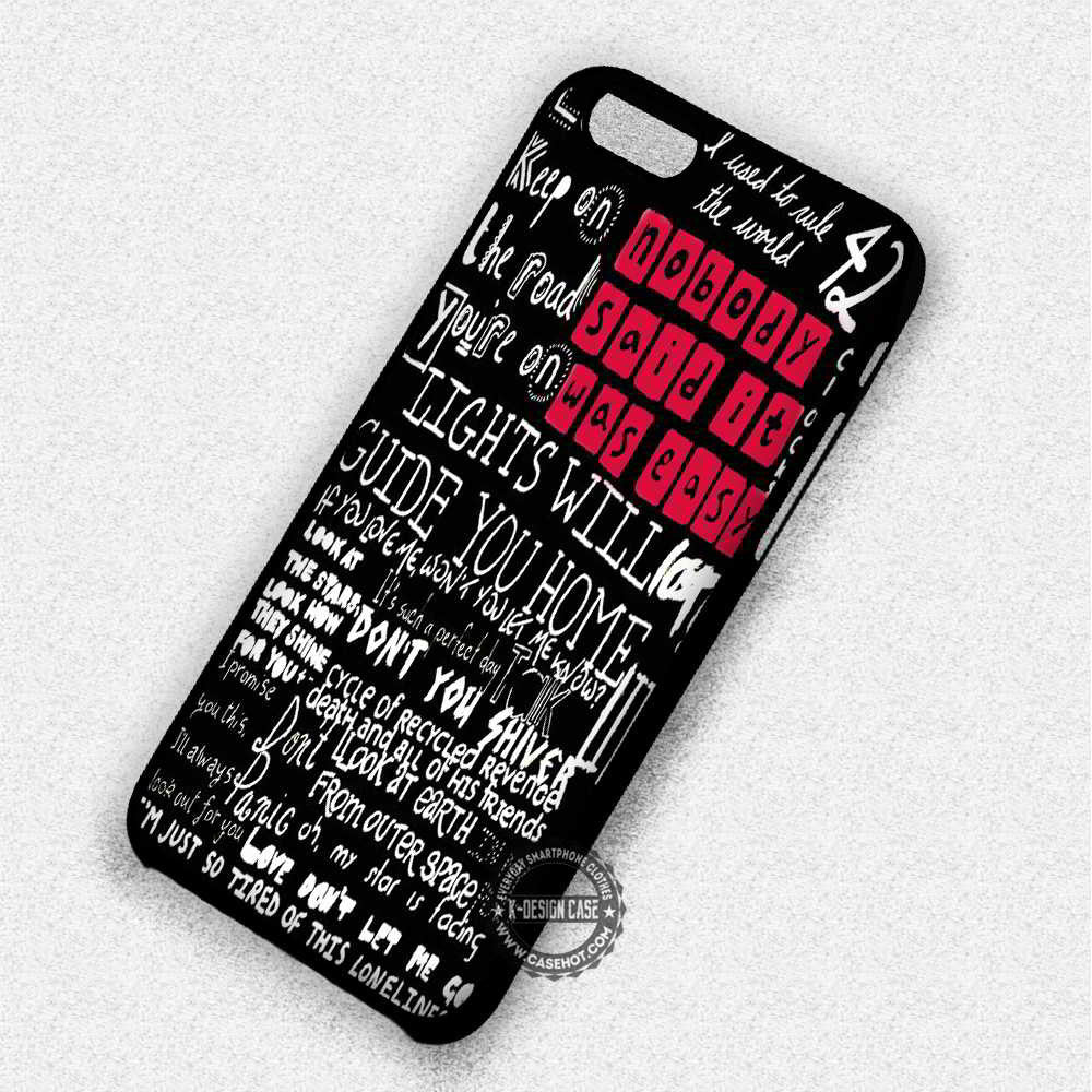 Best Lyric Coldplay - iPhone 7 6 Plus 5c 5s SE Cases & Covers - Kawung Design  - 1
