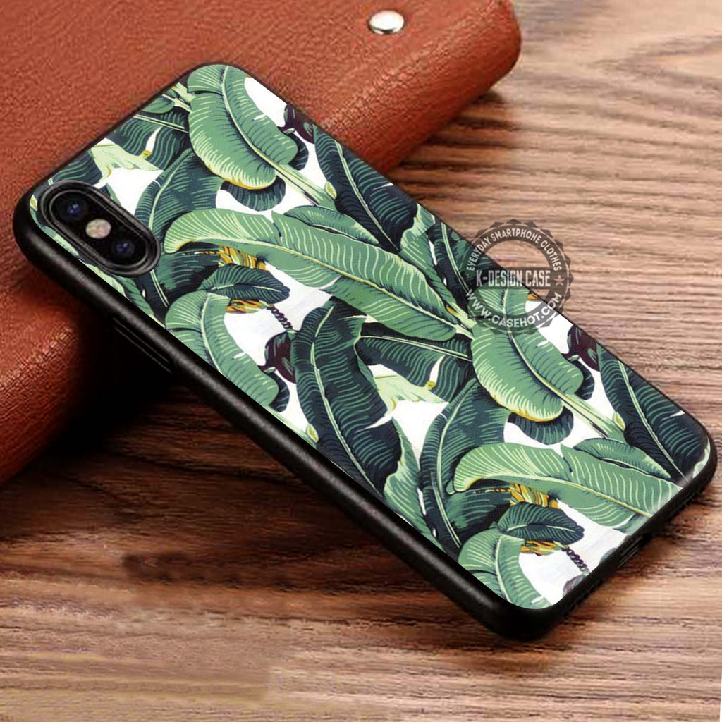Beverly Hills Hotel Martinique Wallpaper Banana Leaf IPhone X Case