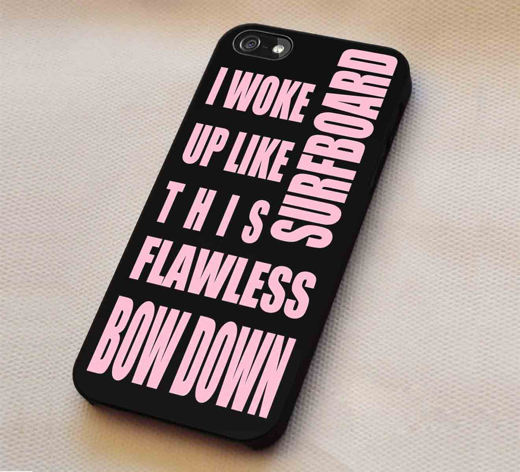 Beyonce Popular Quotes in Black iPhone 6s 6s+ 5s 5c 4s Cases Samsung Galaxy s5 s6 Edge+ NOTE 5 4 3 #music #byc lk1 - Kawung Design  - 1
