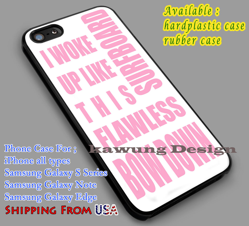 Beyonce | Popular |  Quotes in White iPhone 6s 6 6s+ 6plus Cases Samsung Galaxy s5 s6 Edge+ NOTE 5 4 3 #music #byc dl2 - Kawung Design  - 1