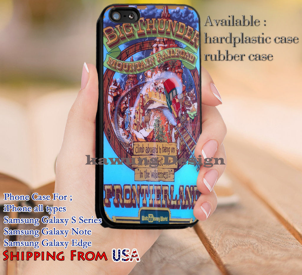 Big Thunder Disney iPhone 6s 6 6s+ 5c 5s Cases Samsung Galaxy s5 s6 Edge+ NOTE 5 4 3 #cartoon #disney #animated #disneycastle dl12 - Kawung Design  - 1