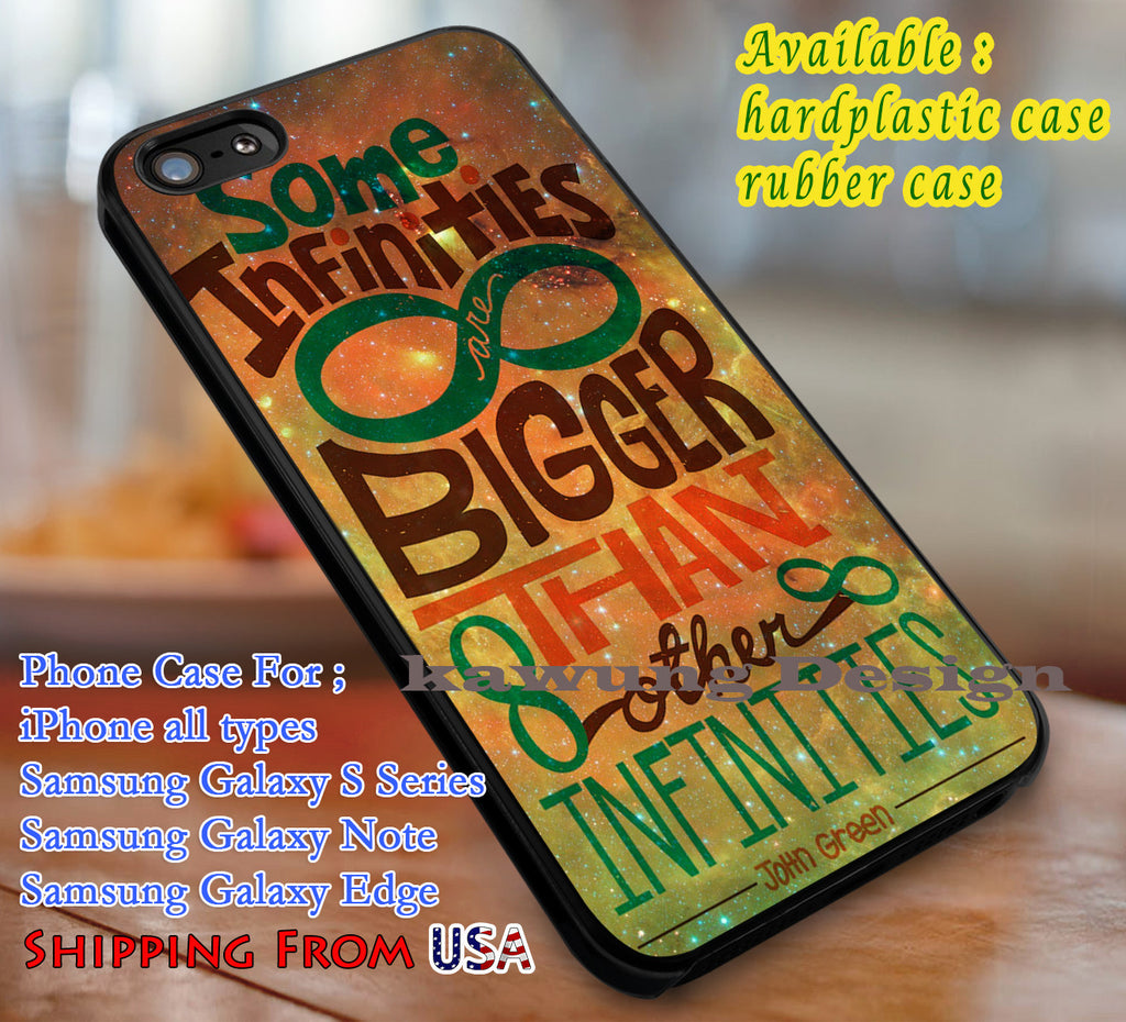 Bigger Infinites John Green Quote iPhone 6s 6 6s+ 6plus Cases Samsung Galaxy s5 s6 Edge+ NOTE 5 4 3 #movie #TheFaultInOurStars dl3 - Kawung Design  - 1