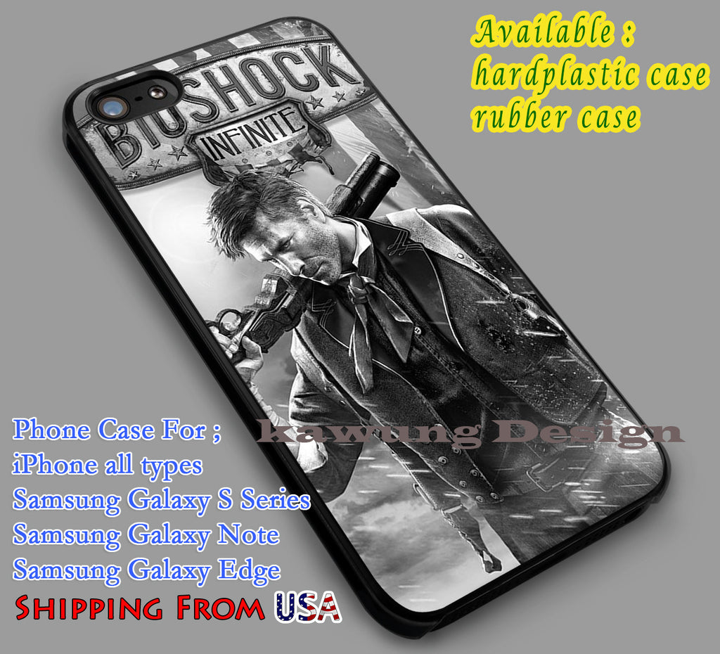 BioShock Infinite Box Art  iPhone 6s 6 6s+ 5c 5s Cases Samsung Galaxy s5 s6 Edge+ NOTE 5 4 3 #other dl5 - Kawung Design  - 1