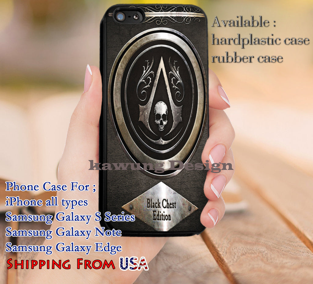 Black Flag Logo Assassins Creed iPhone 8+ 7 6s Cases Samsung Galaxy S8 S7 edge NOTE 8 5 4
