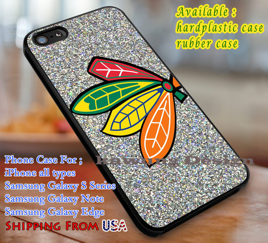 Blackhawks Glitter iPhone 6s 6s+ 5s 5c 4s Cases Samsung Galaxy s5 s6 Edge+ NOTE 5 4 3 #art dl3 - Kawung Design  - 1