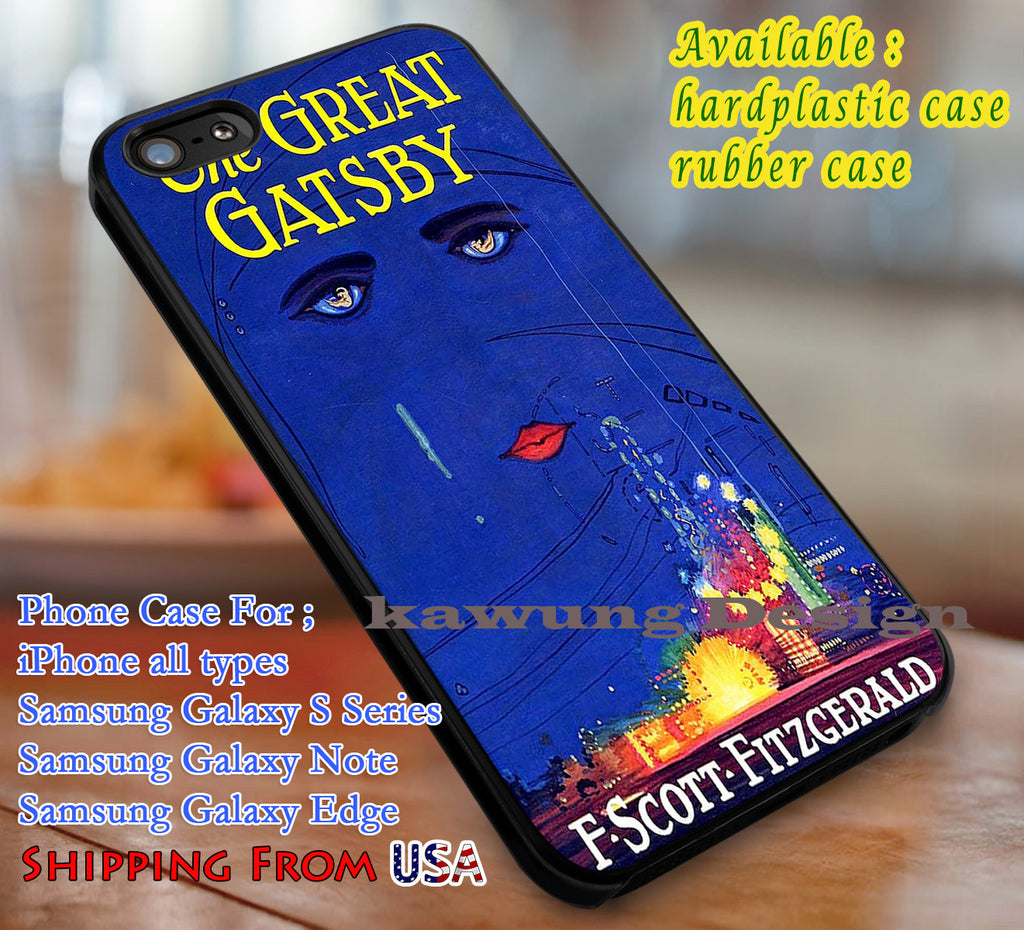 Book The Great Gatsby Blue iPhone X 8+ 7 6s Cases Samsung Galaxy S8 S7 edge NOTE 8 5 4