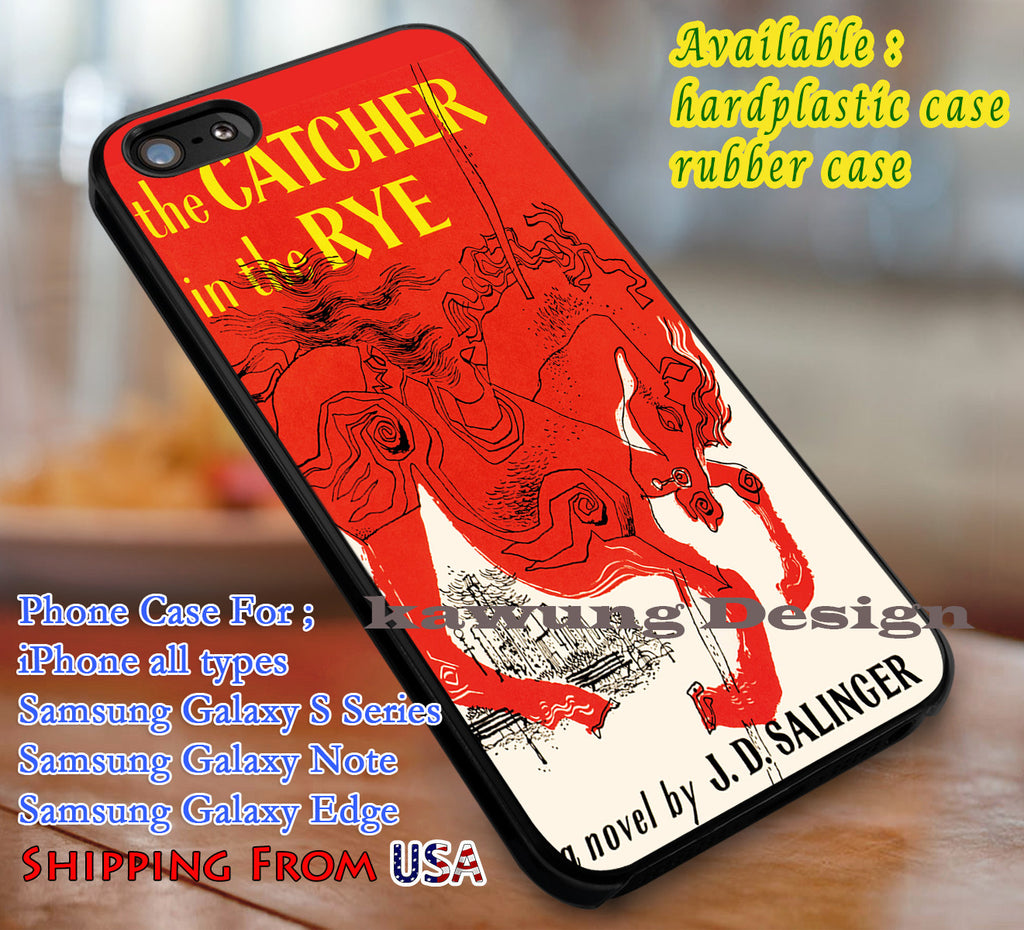 Book Cover The Catcher in The Rye iPhone 6s 5s 5c 6s+ Cases Samsung Galaxy s5 s6 Edge+ NOTE 5 4 3 #other dl3 - Kawung Design  - 1