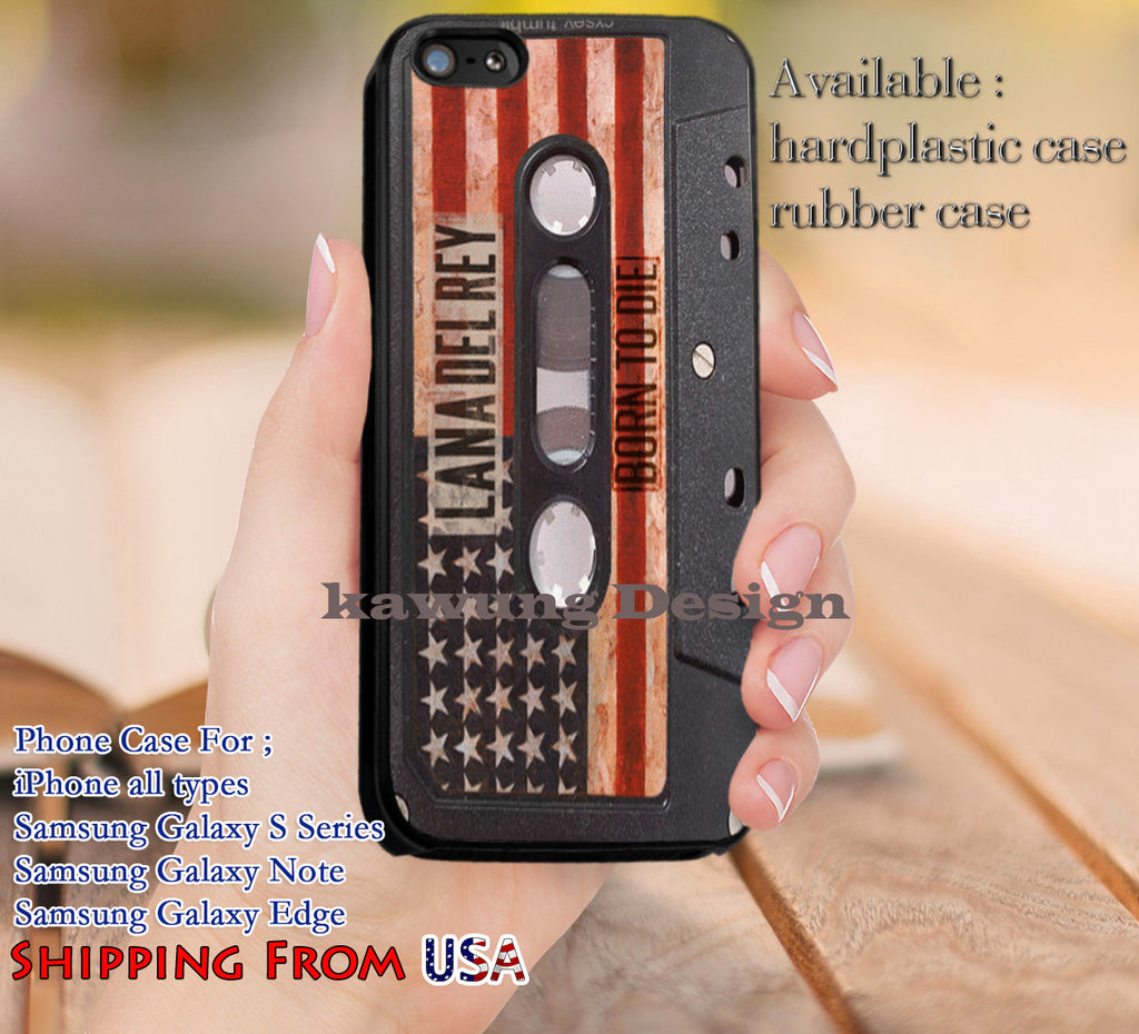 Born To Die Lana Del Rey Album Cassette iPhone X 8+ 7 6s Cases Samsung Galaxy S8 S7 edge NOTE 8 5 4