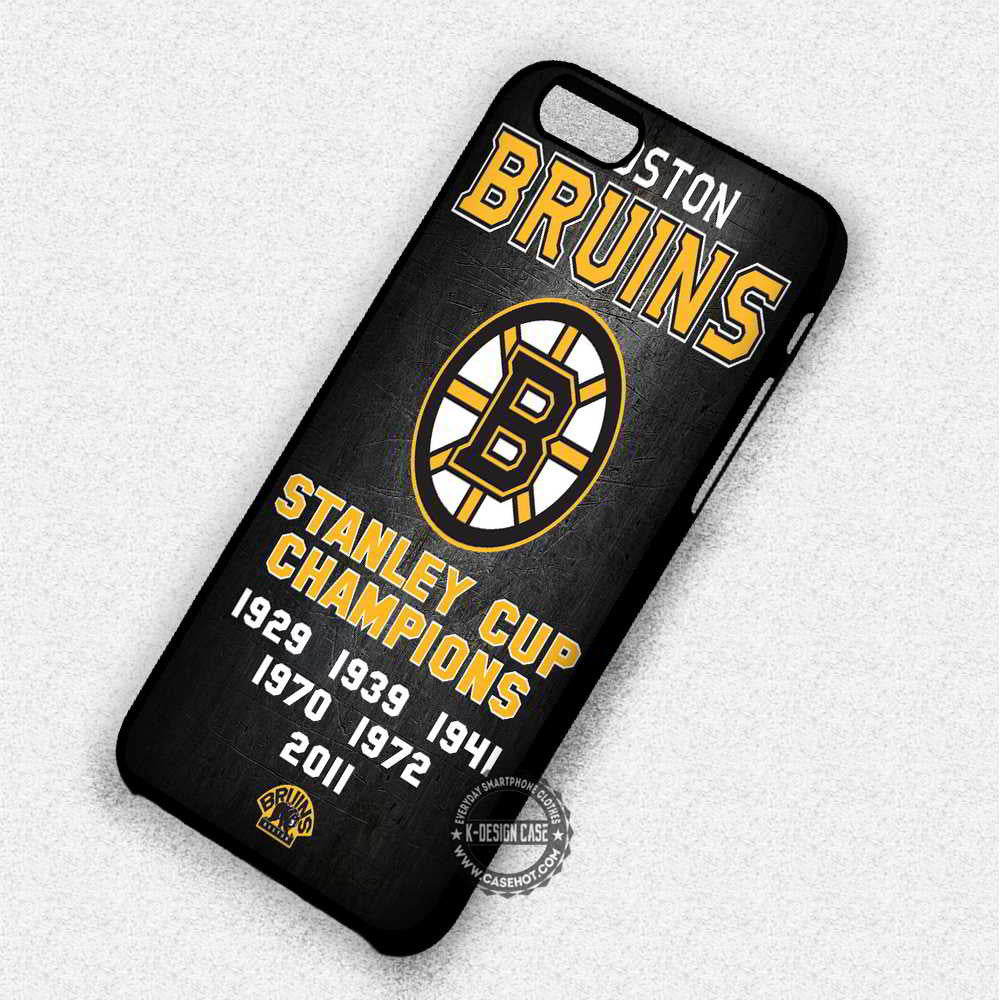 Boston Bruins Grunge Hockey - iPhone 7 6 Plus 5c 5s SE Cases & Covers - Kawung Design  - 1