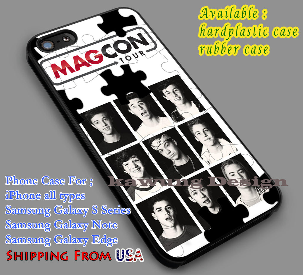 Boys Puzzle Magcon Boys iPhone 6s 6 6s+ 5c 5s Cases Samsung Galaxy s5 s6 Edge+ NOTE 5 4 3 #movie #MagconBoys dl6 - Kawung Design  - 1