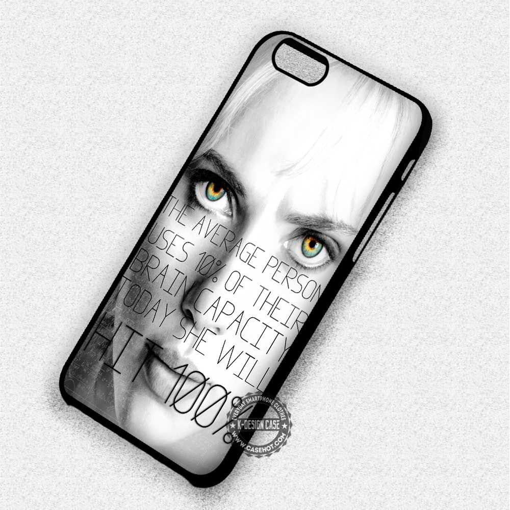 Brain Capacity Lucy Quote - iPhone 7 6 Plus 5c 5s SE Cases & Covers - Kawung Design  - 1