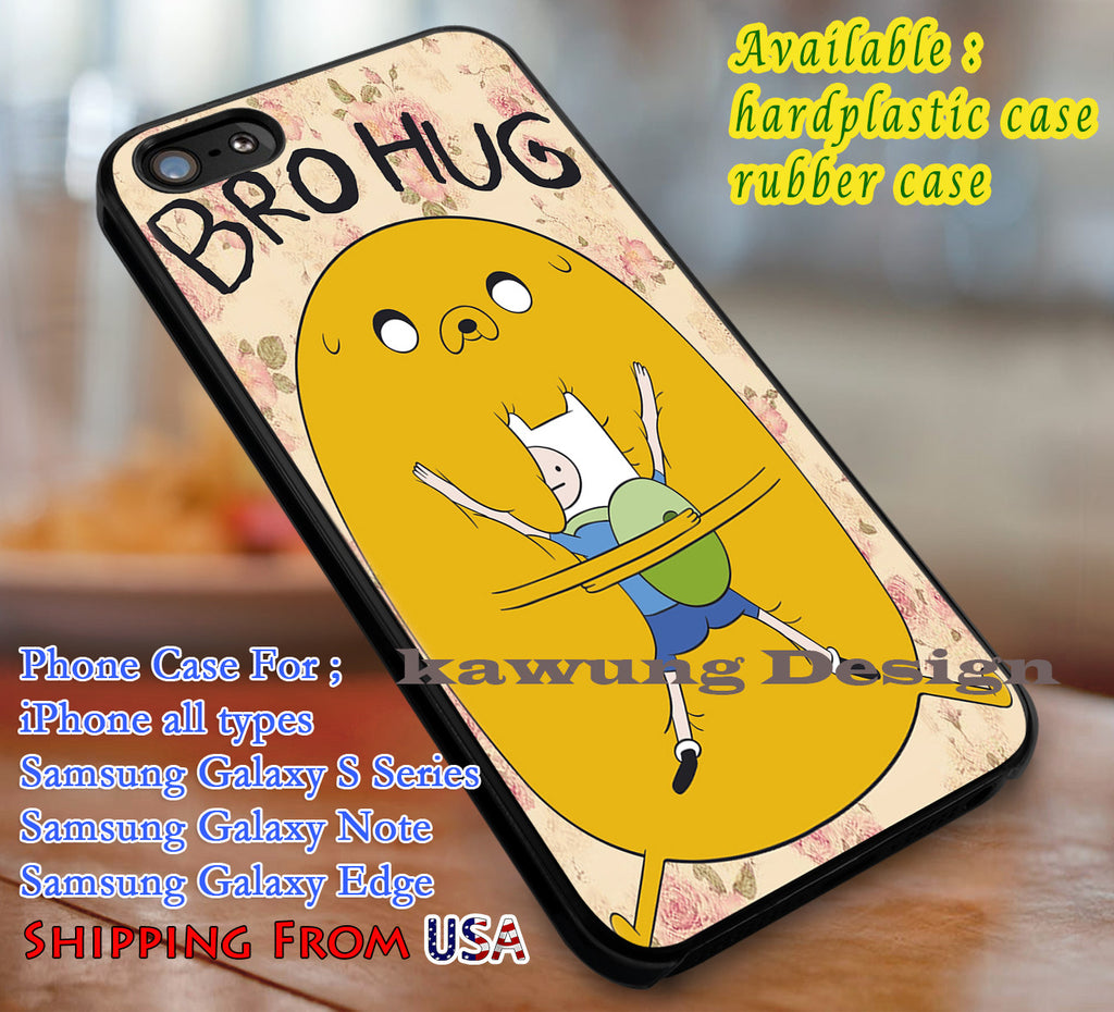 Bro Hug Adventure Time iPhone 8+ 7 6s Cases Samsung Galaxy S8 S7 edge NOTE 8 5 4