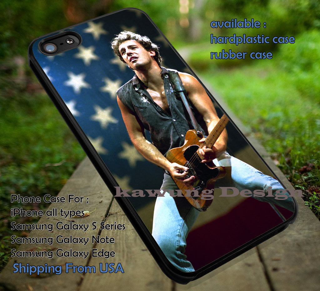 Bruce Springsteen, song, case/cover for iPhone 4/4s/5/5c/6/6+/6s/6s+ Samsung Galaxy S4/S5/S6/Edge/Edge+ NOTE 3/4/5 #music #bcst ii - Kawung Design  - 1