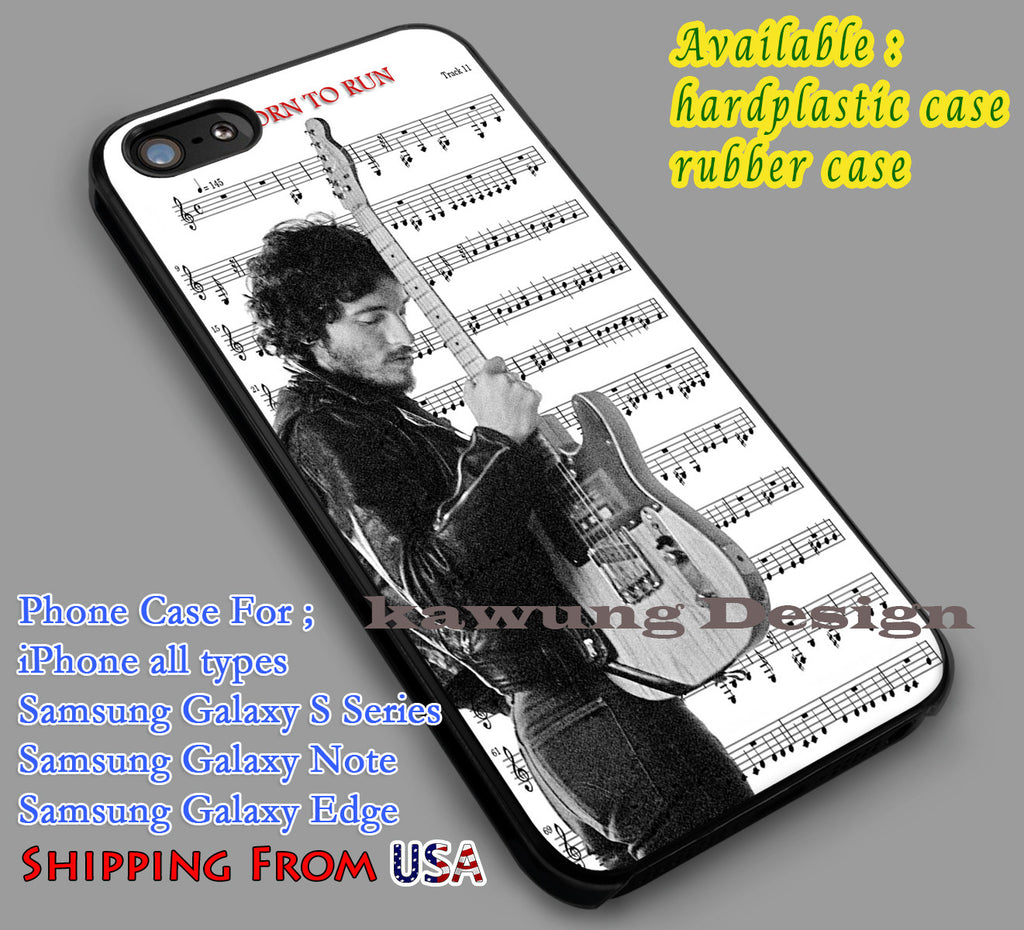 Bruce Springsteen | Born To Run | Music Note iPhone 6s 6 6s+ 6plus Cases Samsung Galaxy s5 s6 Edge+ NOTE 5 4 3 #music #bcst dl2 - Kawung Design  - 1