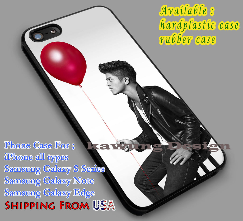 Bruno Mars with Red Balloon iPhone 6s 6 6s+ 6plus Cases Samsung Galaxy s5 s6 Edge+ NOTE 5 4 3 #music #bmr dl4 - Kawung Design  - 1