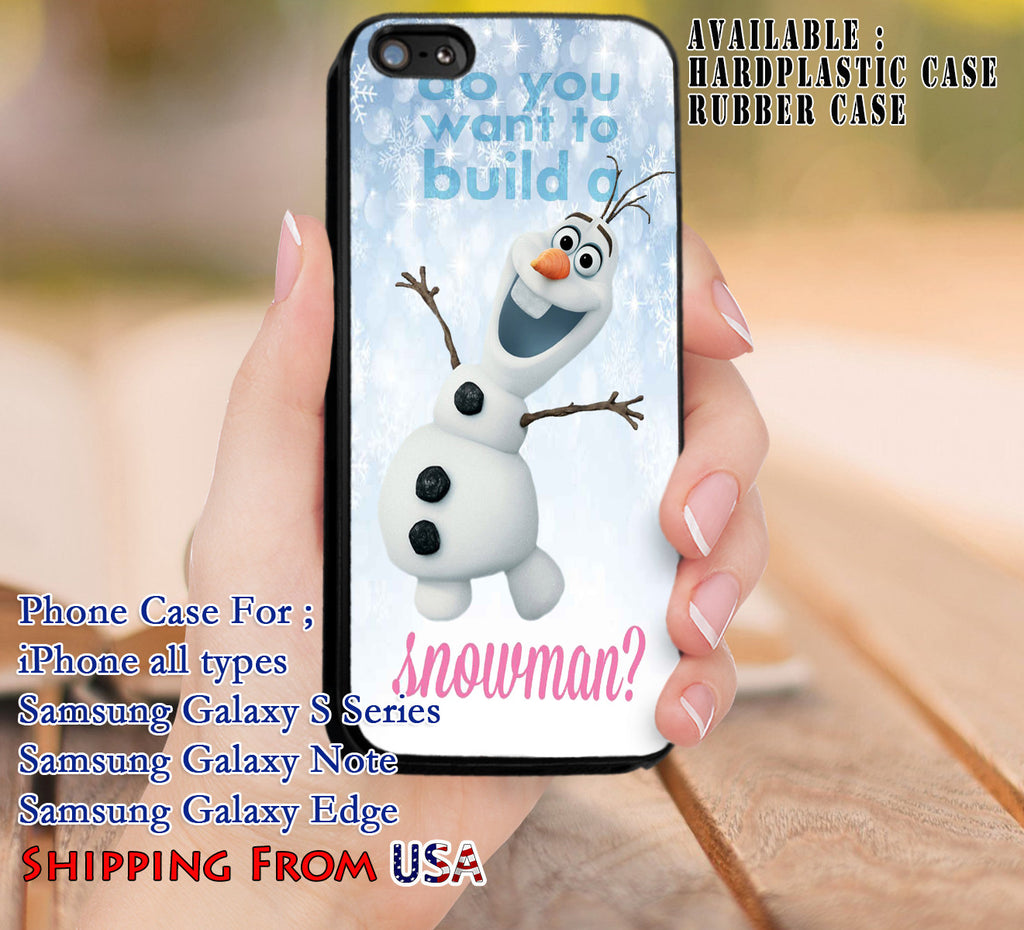Build a Snowman Olaf iPhone 6s 6 6s+ 5c 5s Cases Samsung Galaxy s5 s6 Edge+ NOTE 5 4 3 #cartoon #disney #animated  #frozen dl8 - Kawung Design  - 1
