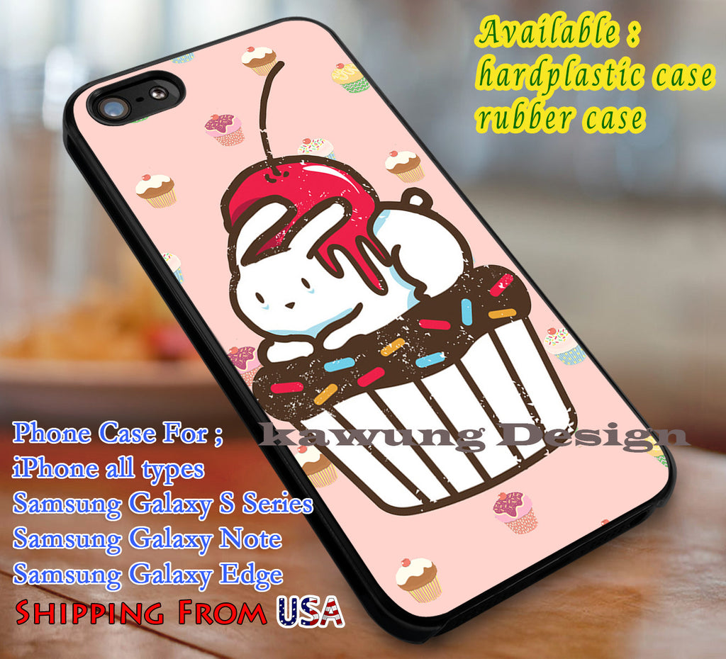 Bunny on a Cupcake Cute iPhone X 8+ 7 6s Cases Samsung Galaxy S8 S7 edge NOTE 8 5 4