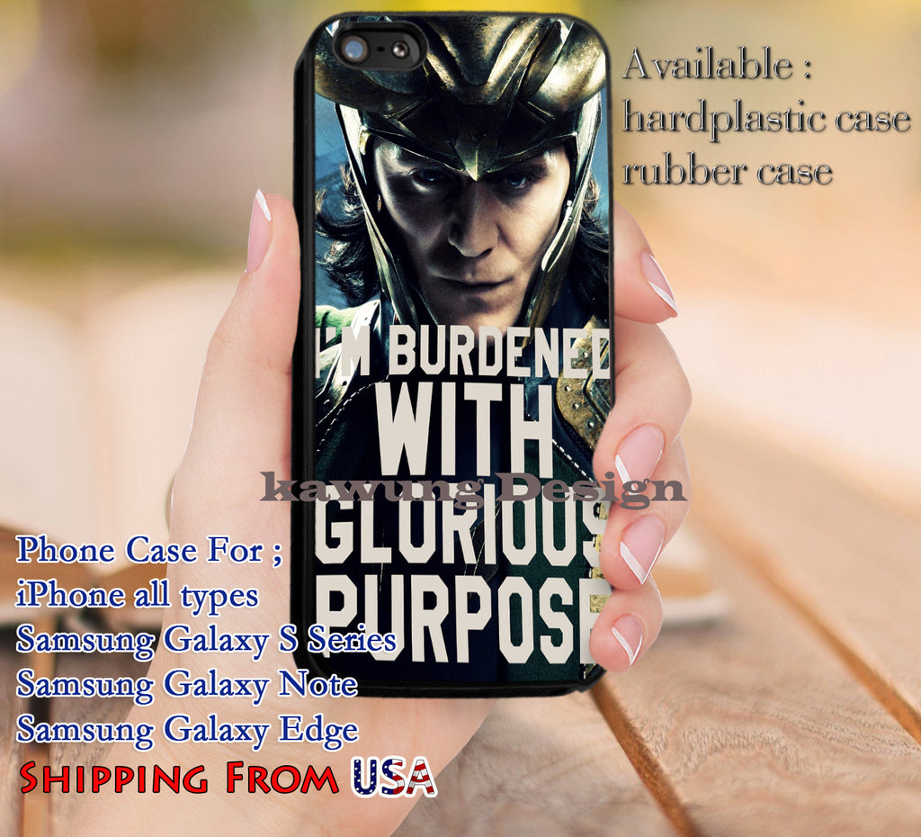 Burdened With Glorious Purpose Quote iPhone 6s 6 6s+ 5c 5s Cases Samsung Galaxy s5 s6 Edge+ NOTE 5 4 3 #movie #disney #animated #marvel #comic dl9 - Kawung Design  - 1