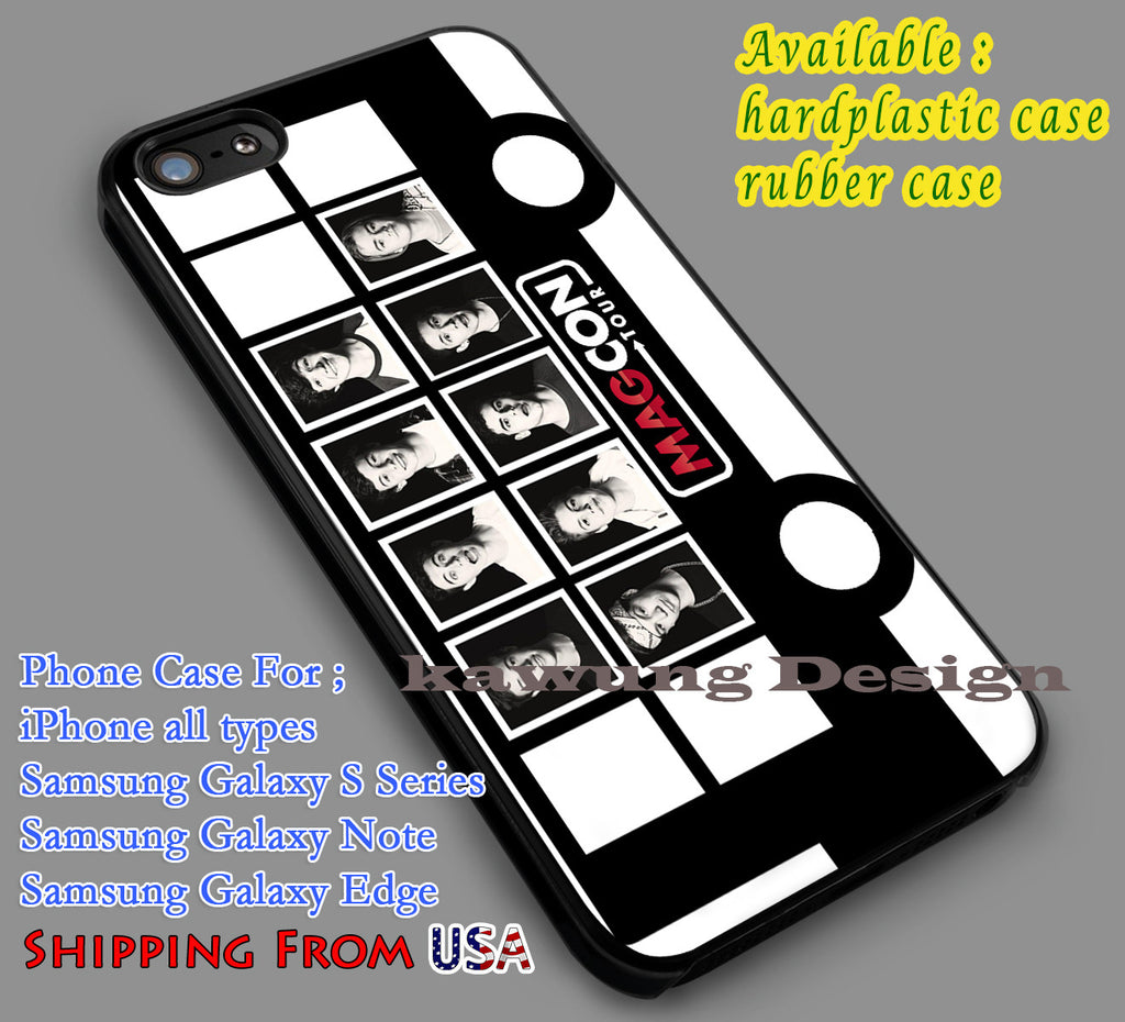 Bus Tour Magcon iPhone 6s 6 6s+ 5c 5s Cases Samsung Galaxy s5 s6 Edge+ NOTE 5 4 3 #movie #MagconBoys dl6 - Kawung Design  - 1