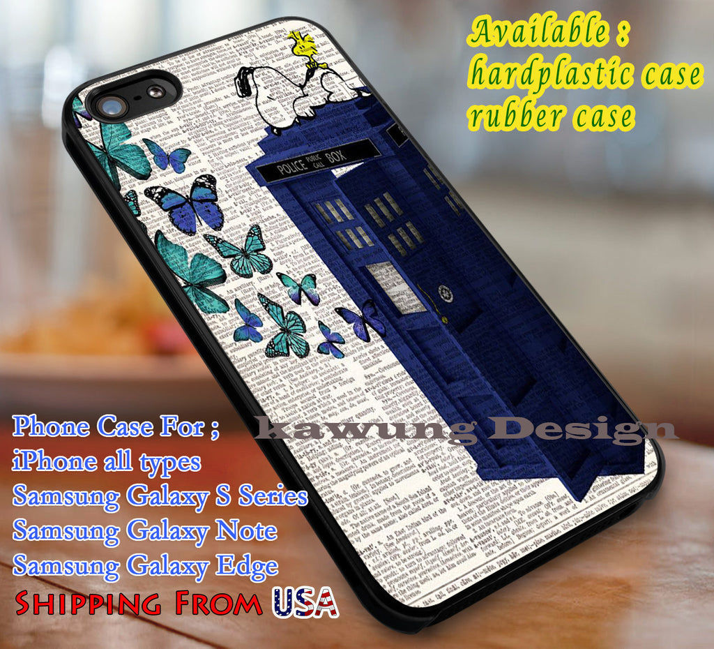 Butterflies Tardis iPhone 6s 6 6s+ 6plus Cases Samsung Galaxy s5 s6 Edge+ NOTE 5 4 3 #movie #superwholock #doctorwho #sherlockholmes #snoopy dl3 - Kawung Design  - 1